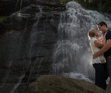 Nichole & Rob Brandywine Falls Engagement Session