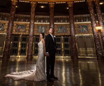 Stephanie & Jake Ahern's Banquet Center Wedding