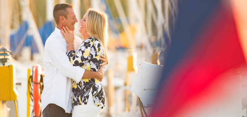Becky & Kevin Edgewater Yacht Club Cleveland Engagement Session