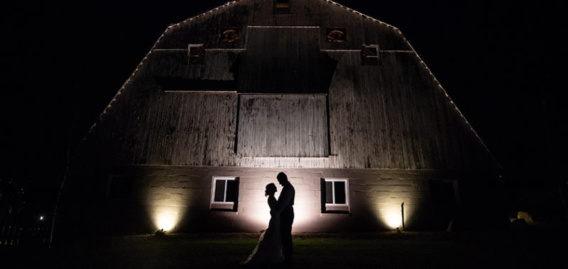 Lisa & Michael White Birch Barn Wedding