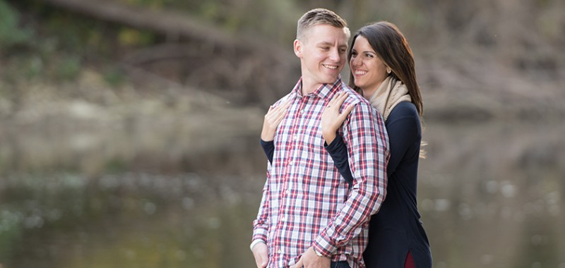 Adrienne & Brian Rocky River Engagement Session