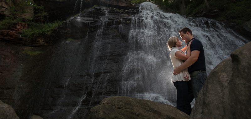 Nichole & Rob Brandywine Falls Engagement Session