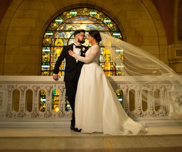 Stephanie & Joseph Old Courthouse Cleveland Wedding
